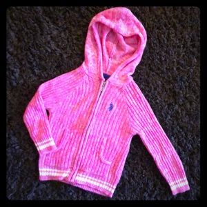 Hot Pink U.S. POLO Sweater/Zip Up Hoodie